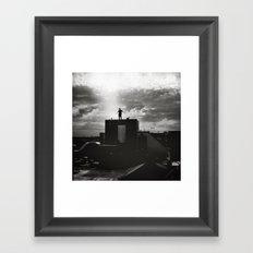 Nothing between me Framed Art Print