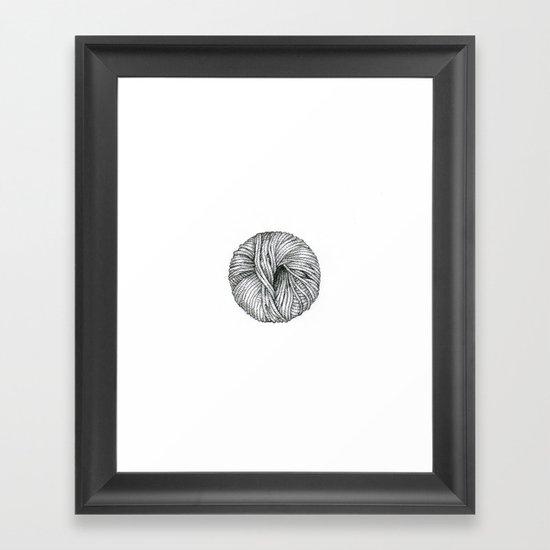 Ball of yarn Framed Art Print