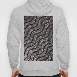 Silver Glitter With Black Squiggles Pattern Hoody