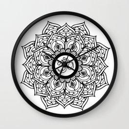 Om Hindu sacred sound symbol Mandala Wall Clock