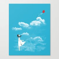 let it go Canvas Prints featuring Let Go by I Love Doodle