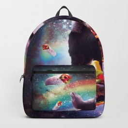 Space Sloth Riding Llama Unicorn - Taco & Burrito Backpack