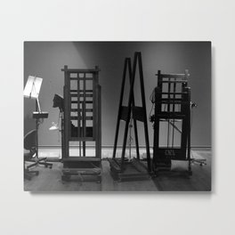 Easels in Black and White by David Hohmann Metal Print