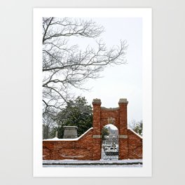 atlanta winter Art Print