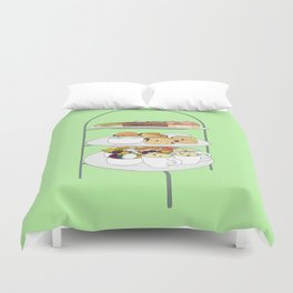 English Afternoon Tea Cakes Duvet Cover