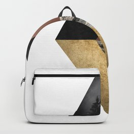 Night and Day Modern Scandinavian Abstract Backpack