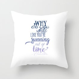 Running out of time | Hamilton Throw Pillow