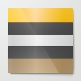 Licorice candy stripes. Metal Print