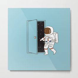 going to outer space Metal Print