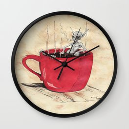 Cluster Coffee Break Wall Clock