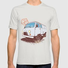 UAZ 452 MEDIUM Mens Fitted Tee Silver