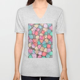 It's Always Summer Somewhere - bright poppy floral Unisex V-Neck