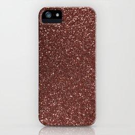 Ruby Pink Copper Glitter iPhone Case