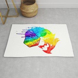 Rainbow Dragon D20 Rug