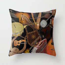 String Instruments 2 Throw Pillow