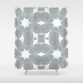 Blue Ice Crystals Shower Curtain