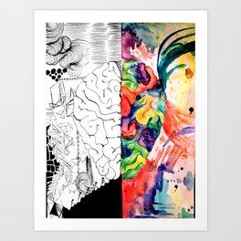Right Left Brain Art Print