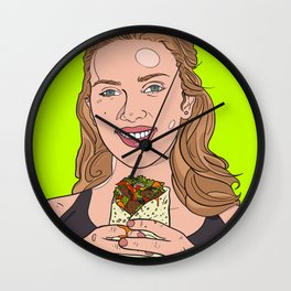 Scarlett Johansson with Burrito Wall Clock