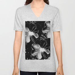 Black Flowers Unisex V-Neck