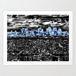 Paris - Blick vom Eiffelturm 2 Art Print