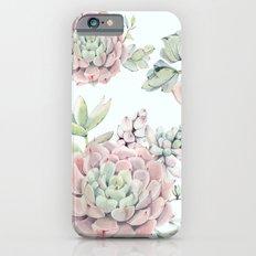 Pink Echeveria #society6 #buyart iPhone 6s Slim Case