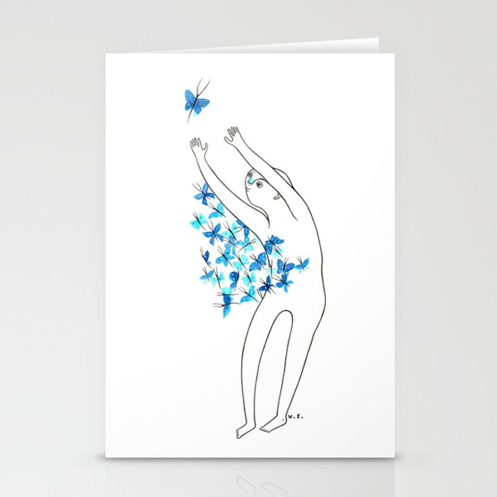 Full of butterflies Stationery Cards