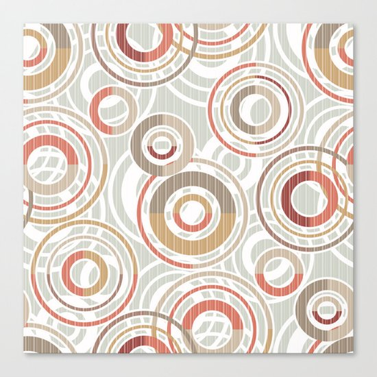 Abstraction.Circles and rings. Canvas Print