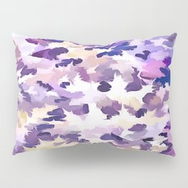 Foliage Abstract Camouflage In Pale Purple and Violet Pastels Pillow Sham