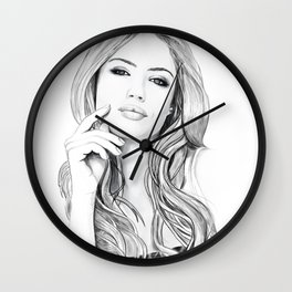Xenia Tchoumitcheva Portrait of an angel Wall Clock