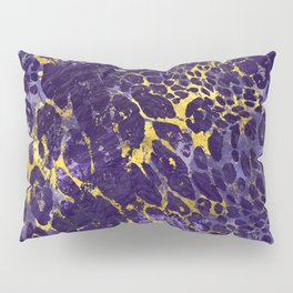 Faux leopard fur in amethyst and gold Pillow Sham