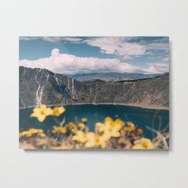 Quilotoa Lagoon Ecuador Metal Print