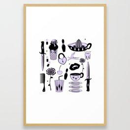 Switchblades Framed Art Print