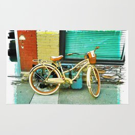 Summer Ride - Yellow Bicycle Rug