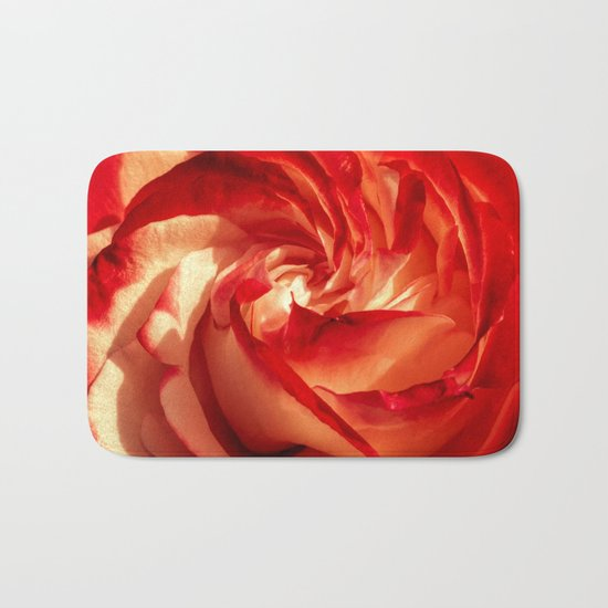 In fire - red and orange rose flower on #Society6 Bath Mat