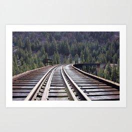 Railroad Brige Art Print