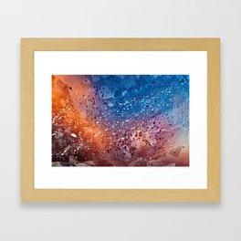 Vibrant Acrylic Texture Framed Art Print