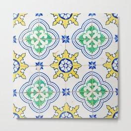 Portuguese Azulejos Metal Print