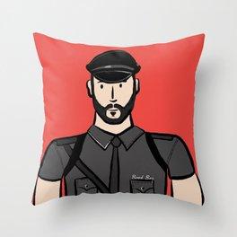 Beard Boy: Alberto Throw Pillow