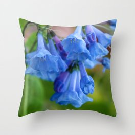 Pop of Blue Throw Pillow