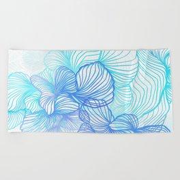 Blue Flora Beach Towel