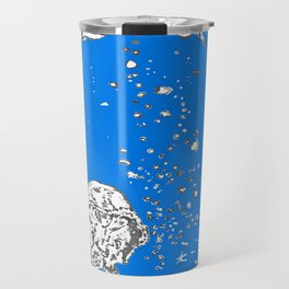 Two Tailed Duck and Jellyfish Royal Brilliant Blue Travel Mug