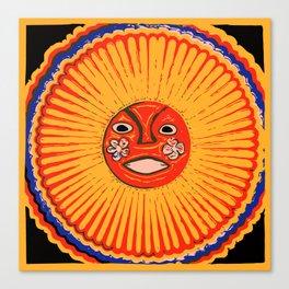 The sun Huichol art Canvas Print