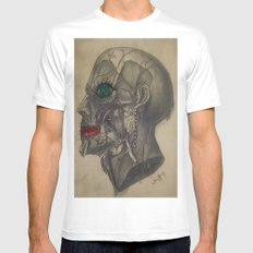 Beauty from the Inside White Mens Fitted Tee MEDIUM