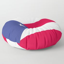 Puerto Rico flag emblem Floor Pillow
