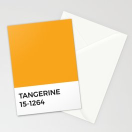 Tangerine Pantone Chip • Orange • Warm Tones • Summertime • Modernist • Minimal • Graphic Designer Stationery Cards