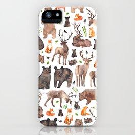 Woodland Animals iPhone Case