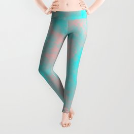 Cotton Candy Clouds - Pink & Blue Leggings