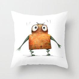 Undroid Robot Throw Pillow