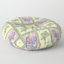 Butterfly Country Patchwork Floor Pillow