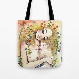 Klimt6 : Mother and Child Tote Bag